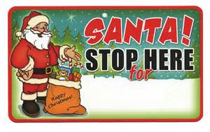 santa stop here signs santa stop here childrens signs instant gifts