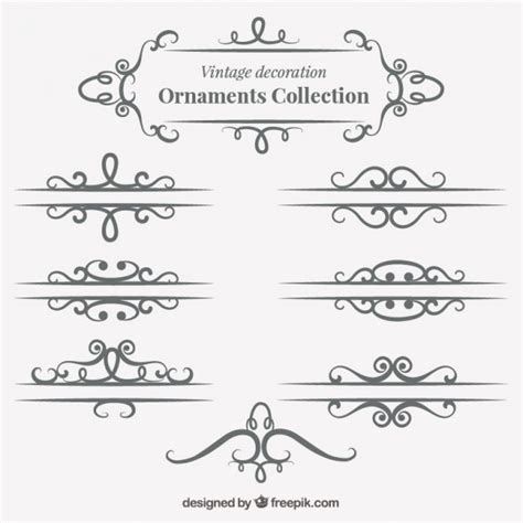 vintage ornaments vintage ornaments pack vector free