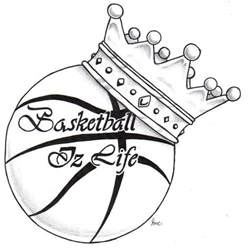 sketch of basket is period basketball