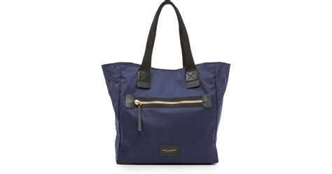 Marc Large Shiny Plastic Tote by Marc Biker N S Tote In Blue Lyst
