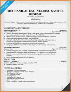 Curriculum Vitae Nursing Template by 7 Experienced Mechanical Engineer Resume Financial