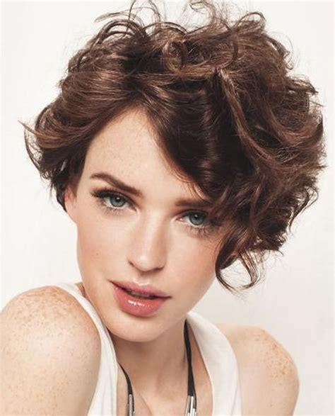 short cuely hairstyles asymmetrical short curly hair styles 2018 2019 short bob