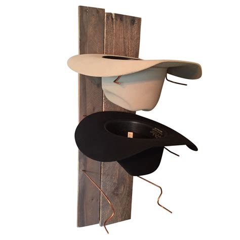 Cowboy Hat Rack by Cowboy Hat Rack Rustic Reclaimed Wood And Copper