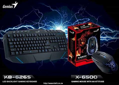 Procatz Gaming Keyboard G500 genius kb g265 led backlight gaming keyboard and genius x g500 gaming mouse