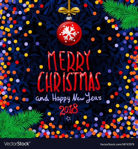 red merry christmas  happy  year  vector image