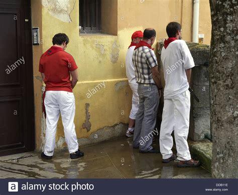 San Fermin festival, Pamplona, Navarra, Spain Stock Photo ... Human Urination