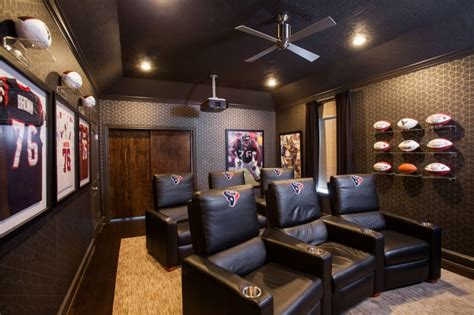 sports themed ceiling fans 17 epic man cave design ideas doorways magazine