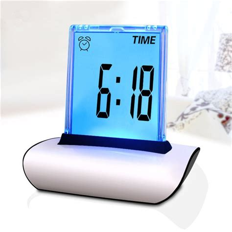 desk alarm clock aliexpress com buy 7 colors changing table clocks lcd