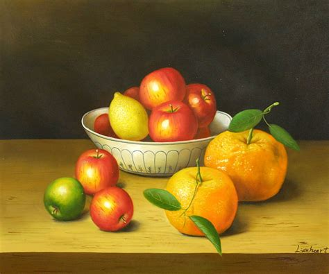 Modern Fruit Bowl by Still Life Of Citrus Fruit And Apples