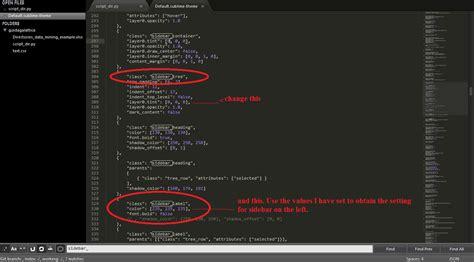 sublime text 3 themes location sublimetext2 sublime text 2 change side bar color