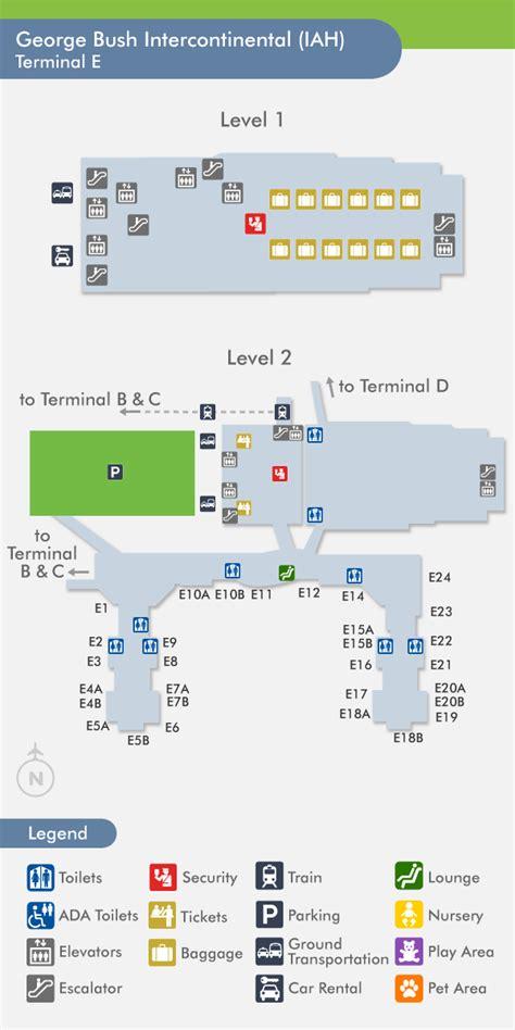 houston airport map terminal c travelnerd terminal e