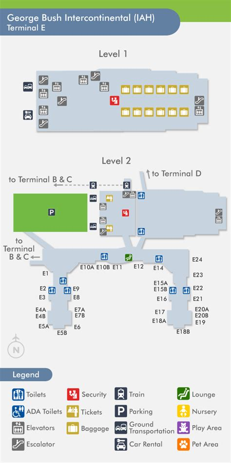 iah map travelnerd terminal e