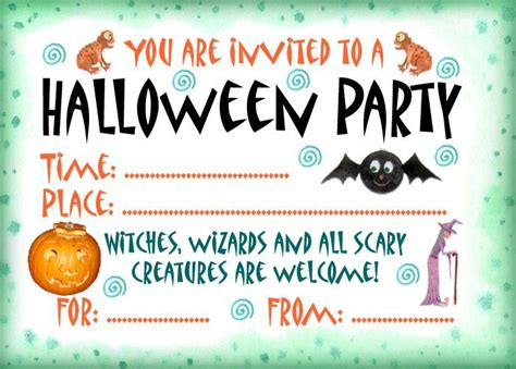printable halloween invitations 16 awesome printable halloween party invitations kitty