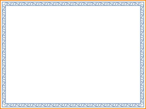 Certificate Border Letter 7 Free Printable Certificate Borders Sle Of Invoice