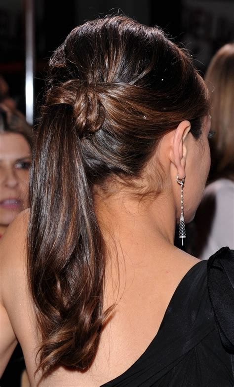 pony tail with fringes back ponytail hairstyles will never be out of fashion the