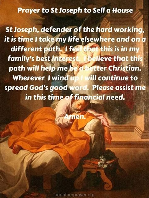 st joseph prayer to sell house prayer to st joseph to sell a house our father prayer