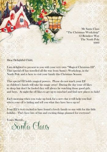 printable letter from santa and elf pin by gretchen guyear on ideas for grandbabies pinterest
