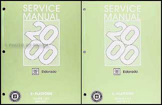 2001 cadillac eldorado repair shop manual original 2 volume set 2000 cadillac eldorado repair shop manual original 2 volume set