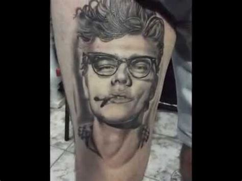 james dean tattoo portrait dean