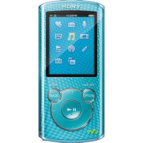 blue film mp3 video player sony 8gb e series walkman video mp3 player blue nwze464blue