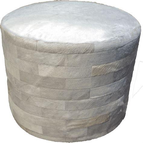 20 inch high ottoman white round cowhide ottoman 24 inch