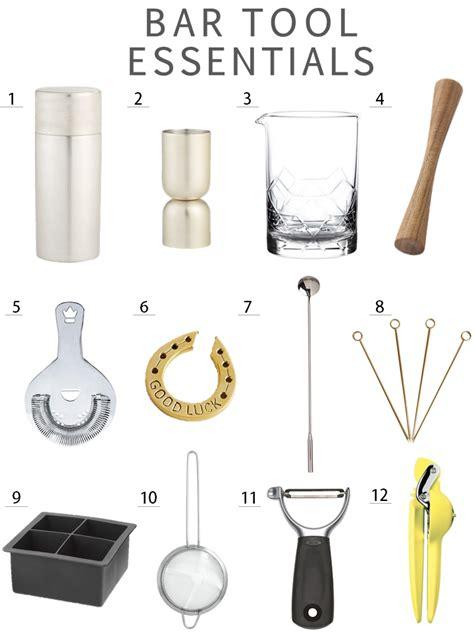 Home Bar Utensils Boho Bungalow How To Set Up Your Home Bar Bar
