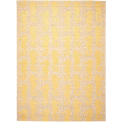 Safavieh Yellow Rug Safavieh Courtyard Beige Yellow 9 Ft X 12 Ft Indoor