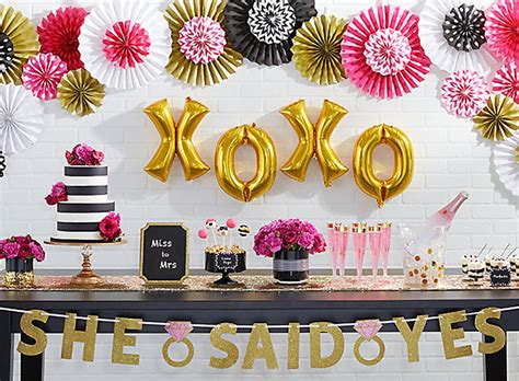pink and gold bridal shower decorations bridal shower ideas city city
