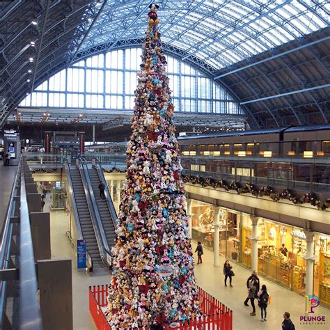 disney st pancras christmas tree plunge creations