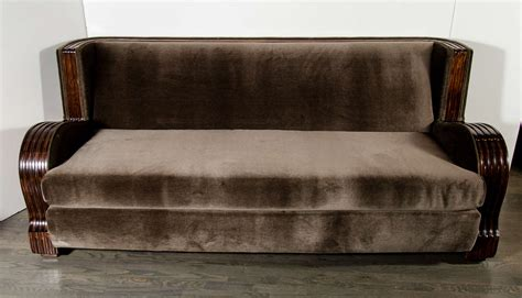 exotic sofas exceptional streamlined art deco sofa with exotic wood