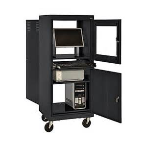 sandusky mobile computer cabinet black by office depot