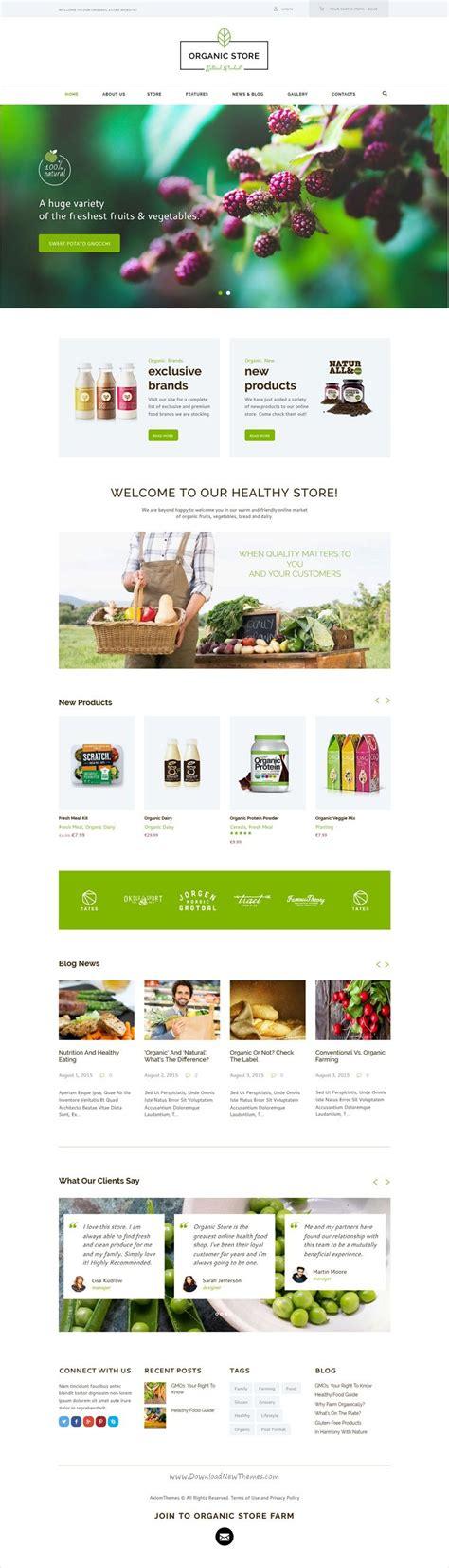 themeforest organic food organic food eco products site template 清楚 和 生活