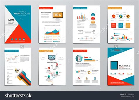 infographics brochure layout business infographics elements for corporate brochures