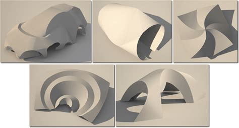 Paper Shapes Folding - loteclb curved creases