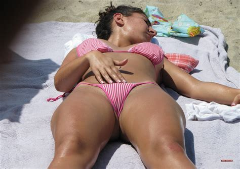 Cameltoe At The Beach