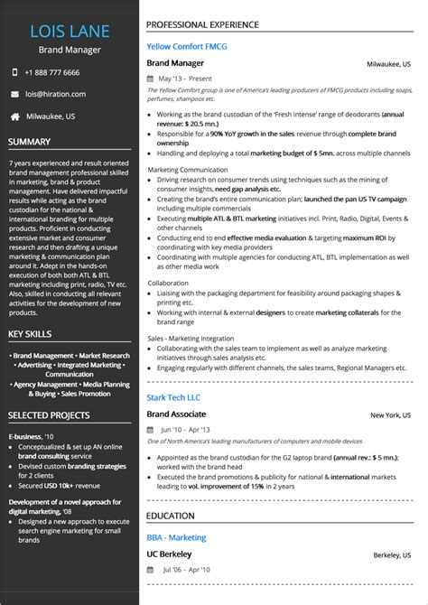 Business Analyst Resume Exles 2019 Guide Best Sles Combination Resume Format Template
