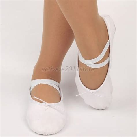 children canvas ballet shoes slippers pointe