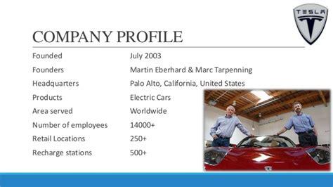 Tesla Motors Company Profile Tesla Sales And Distribution