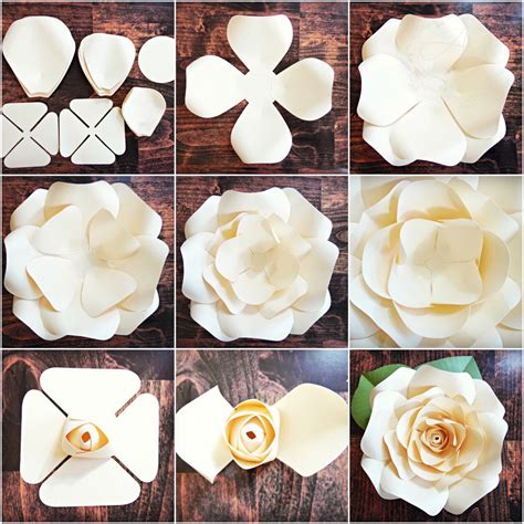 giant paper flowers pattern diy giant rose templates paper rose patterns tutorials