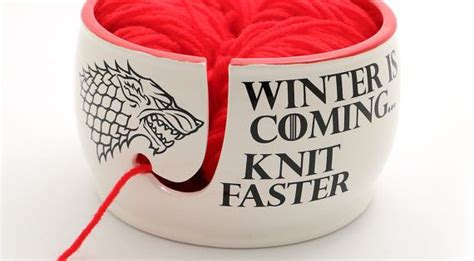 knit wit definition of thrones winter is coming knit faster yarn bowl