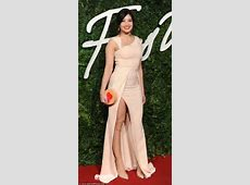 Daisy Lowe shows off her curves in pale pink gown at ... M 58 59 Pink