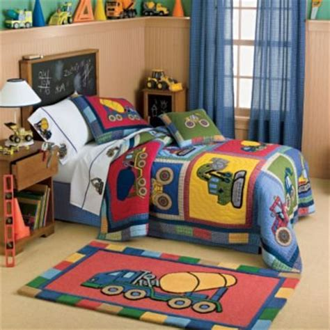 construction toddler bedding big rigs construction vehicles quilt bedding kids