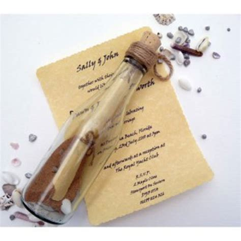 wedding invite message in a bottle message in a bottle wedding invitations template best
