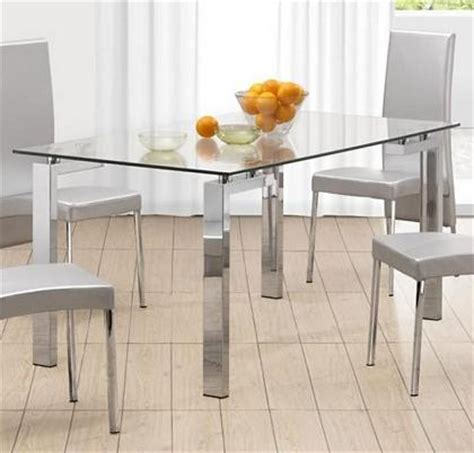glass tables a new look for your dining room