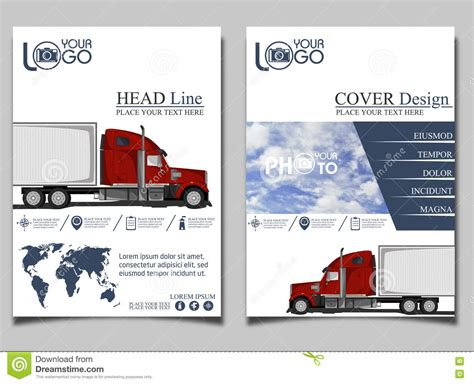 Trucking Flyer Design Template Stock Illustration Illustration Of Banner Business 74023518 Truck Transport Website Templates Free
