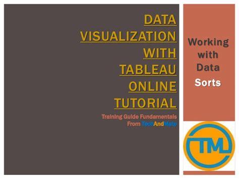 online tutorial work data visualization with tableau online tutorial working