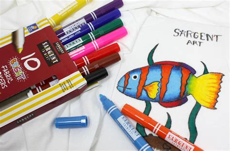 Fabric Marker sargent 22 1568 10 count bright fabric markers