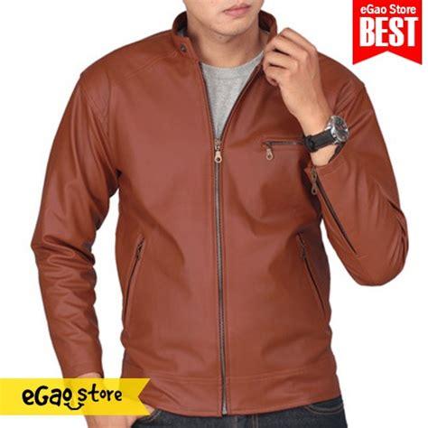 Jaket Kulit Casual Merah jaket pria model resmi semi kulit jaket casual kantor