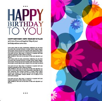 greeting card template powerpoint template birthday greeting card vector material 06