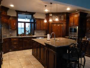 Granite Countertops With Cherry Cabinets Pin By Graham On Where The Is